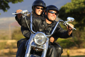 Enjoy the wind in your face on a motorcycle. Drive safe. NY state motorcyclists.